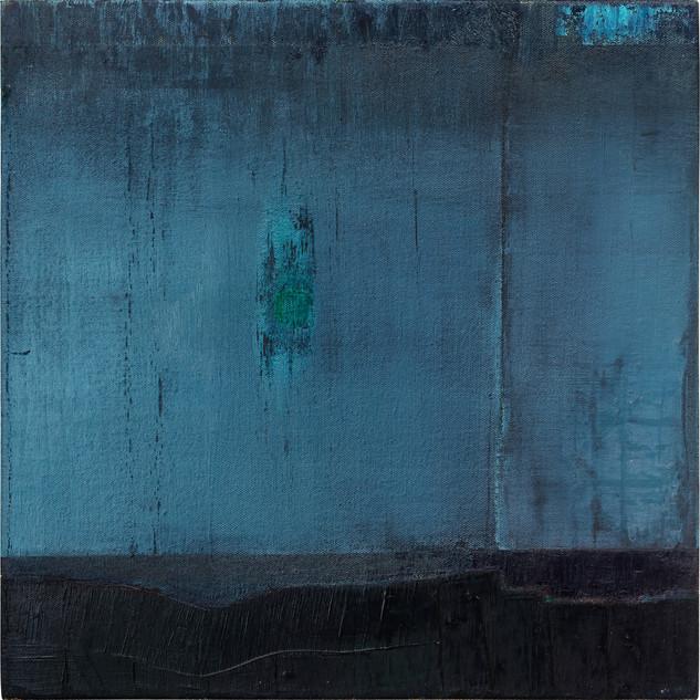 Cynthia Leitão | Azul e Preto | 2018 | técnica mista sobre tela | 40x40cm | R$3.500,00