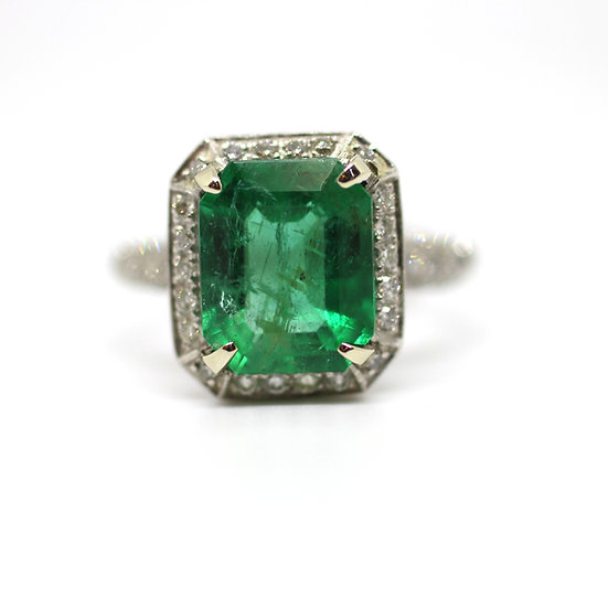 Emerald Diamond Ring