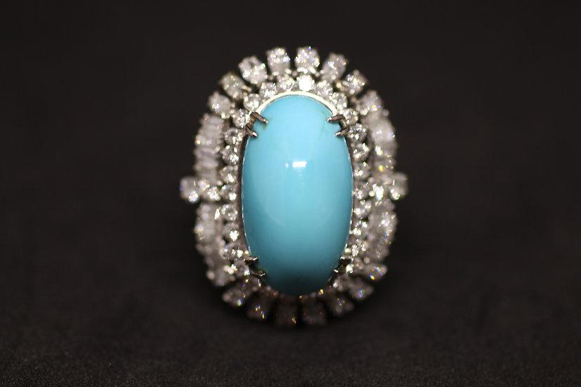 Turqoise diamond ring