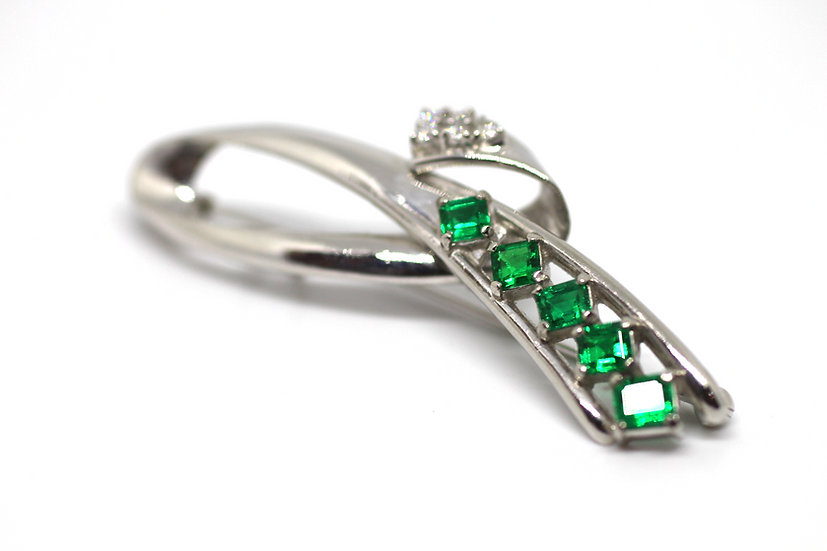 Emerald Pin & Pendant