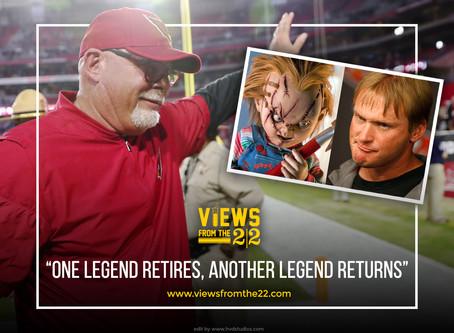 one legend retires,, another legend returns