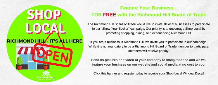 Feature Your Business... FOR FREE with the Richmond Hill Board of Trade The Richmond Hill