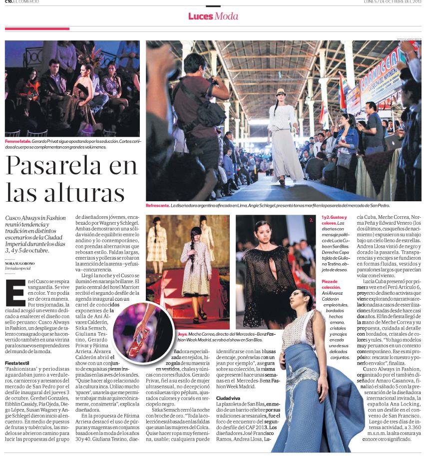 """Nota Luces """"El Comercio"""""""