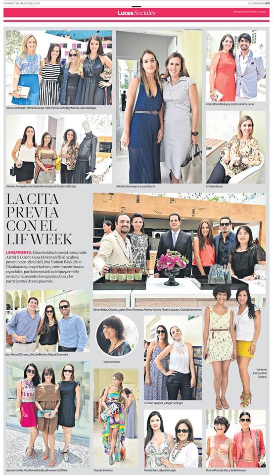 Sección Luces de diario El Comercio