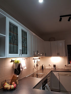 Beautifully finished kitchen cupboard painting