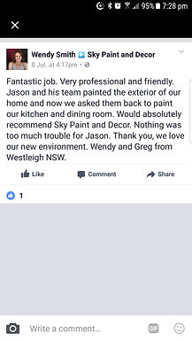 From our recent happy customer