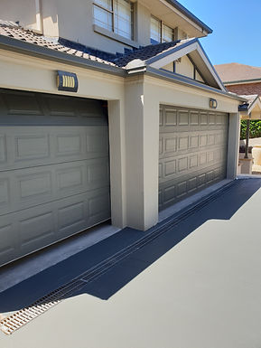 Drive way and garage doors . Frenchs Forest