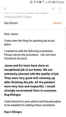 Another Happy Customer Recommendation.