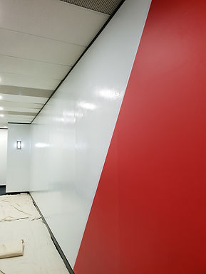 Beautifully finished office wall for design printing