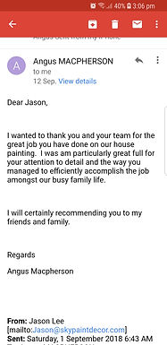 Happy customers review.