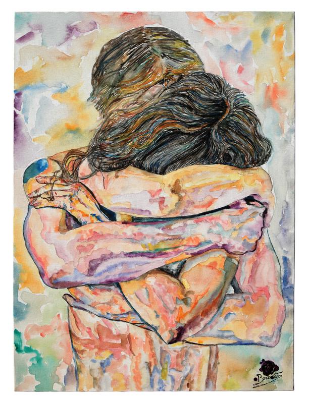 Abbraccio, infinito confine