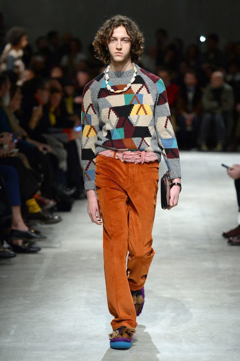 Prada Gets Groovy With a '70s-Inspired Collection That Included Fur Moccasins