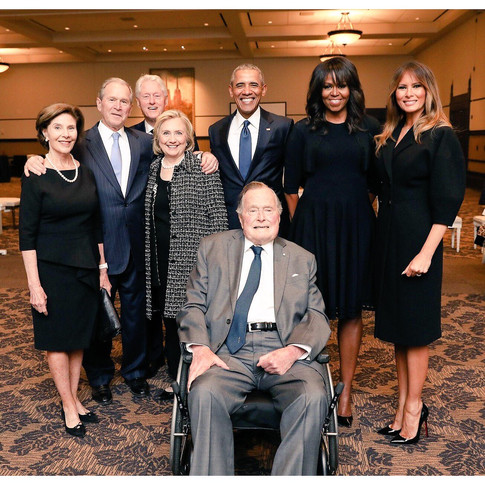 The Bushes, Clintons, Obamas, and Melania Trump: Twitter Is Analyzing This Photo Like It's Renaissance Art
