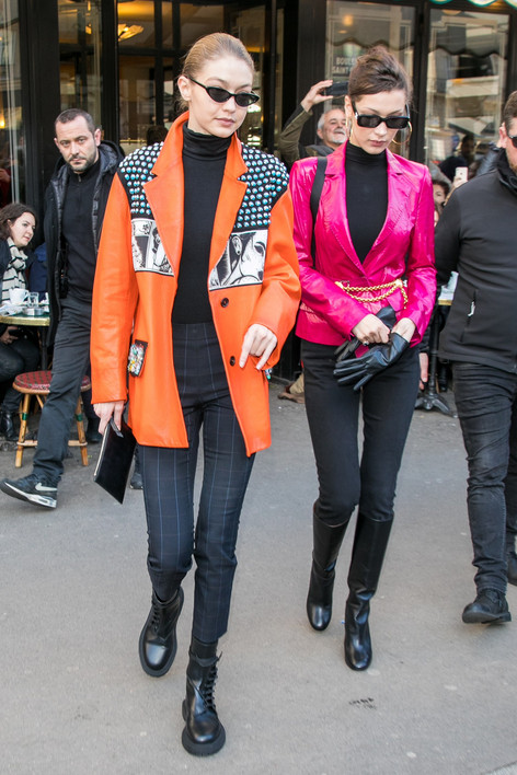 Battle of the Power Jackets: Bella Hadid vs. Gigi Hadid