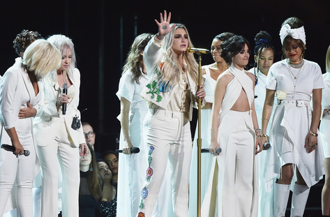 Kesha Conquers the Grammys With an Emotional Performance Costarring Cyndi Lauper, Camila Cabello, and More