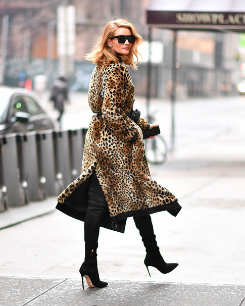 Sneakers? No Thanks! Rosie Huntington-Whiteley is Committed to the Vampy Boot