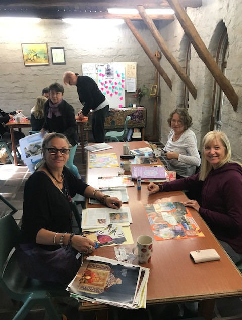 Vision board session at The Monastery.jp
