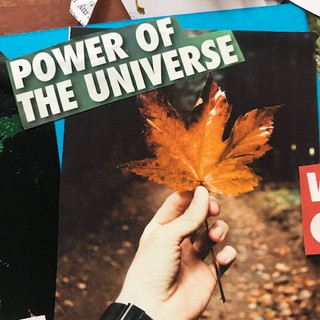 vision board close up Power of the unive