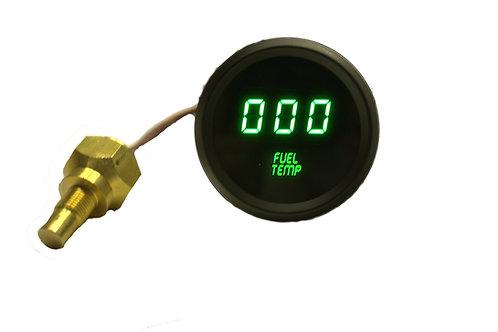 Fuel Temperature LED Digital Gauge in Black Bezel