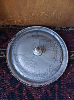 Enamelware lid