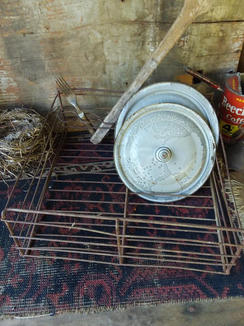 Wire dish rack. 14 1/2 x 14 x 5 1/2