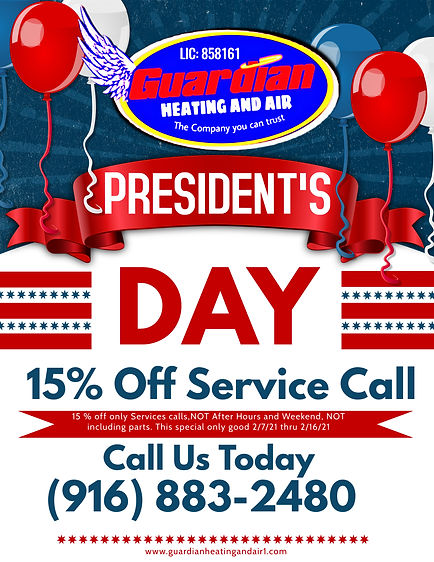 Presidents Day Discount Guardian Heating