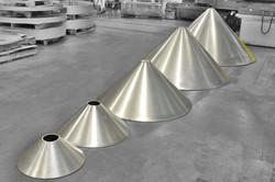 Spun Aluminum Cones