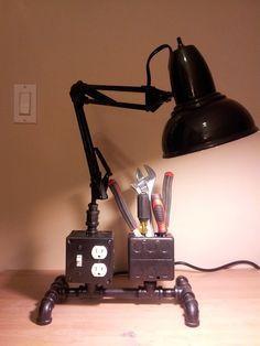 Desk Lamp & Outlet Organizer