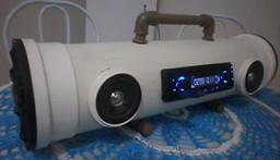 Industrial PVC Pipe Bluetooth Boom Box