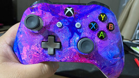 Galaxy Hydro Dipped Xbox Controller