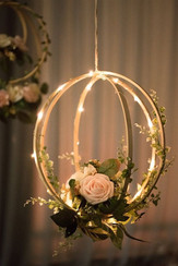 Star Light Orb with Roses and Foliage