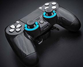 Carbon Fiber & Chrome PS4 Controller