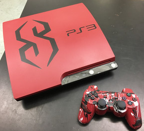 Painted PS3 Console & Hydro Dipped Contr