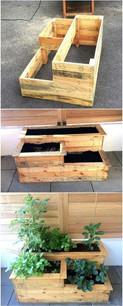 Pallet Tiered Garden Box