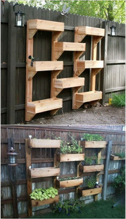 Tiered Wall Planter Boxes