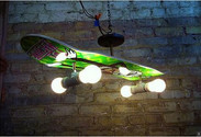 Skateboard Chandelier