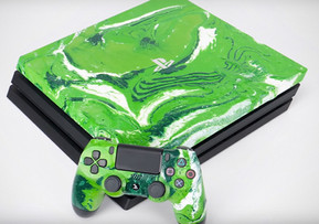 GLime Hydro Dipped PS4 Console & Controller