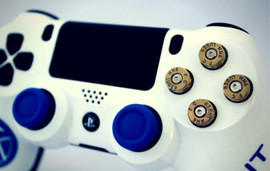 Bullet & Blue Accent PS4 Controller