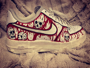 Skull & Blood Red