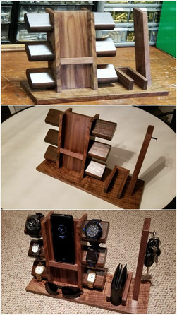 Bed Side Organizer with Wireless Phone Charger