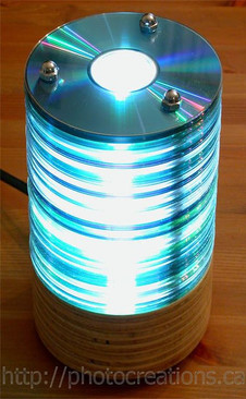 Stacked CD Lamp