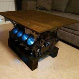 Engine Block Coffee Table with Lights