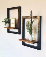 Rustic Frame Shelves