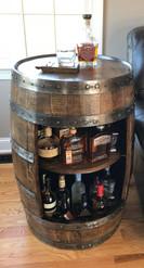 Full Wine Barrel Bar