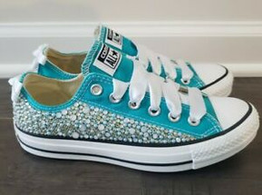 Teal Bling Converse