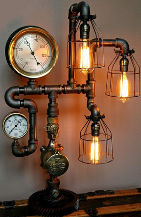 Steampunk Inspired Industrial Table Light
