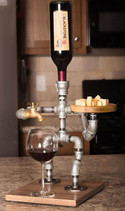 Wine Person Beverage Dispenser with Cheese Plate
