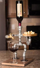 Wine Man Beverage Dispenser with Cheese Plate