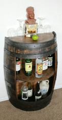 Half Wine Barrel Bar