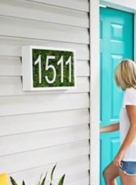 Modern House Number Display
